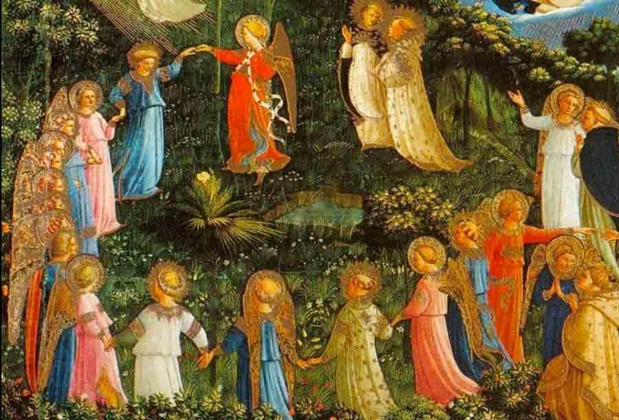 Peinture : La Ronde des Élus Extrait du Jugement dernier de Fra Angelico